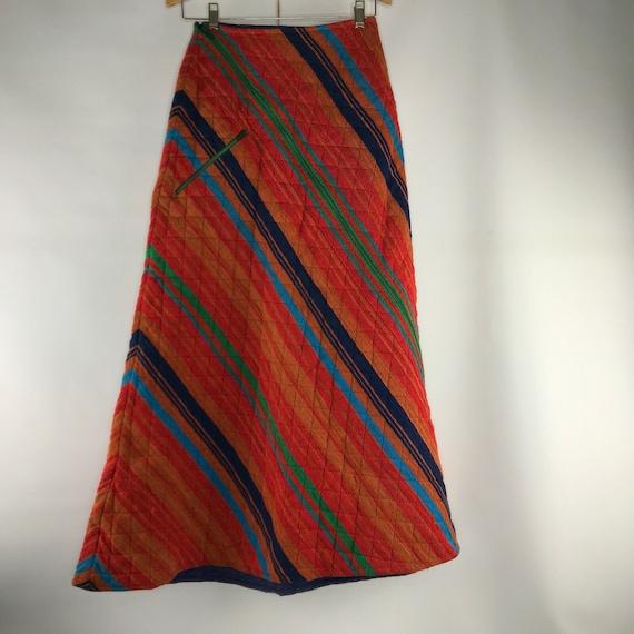 Vintage 70s Rikma Woven Skirt Rare Neiman Marcus S