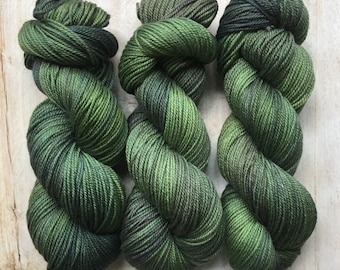 Green Grows By Louise Robert Design   Dk Pure Hand-dyed Variegated Yarn