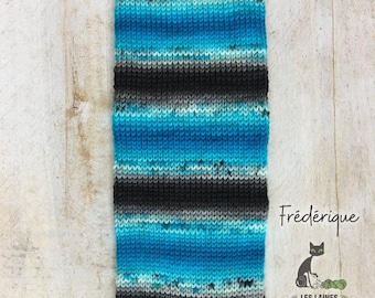 Bis-sock yarn Frédérique self-striping hand-dyed yarn