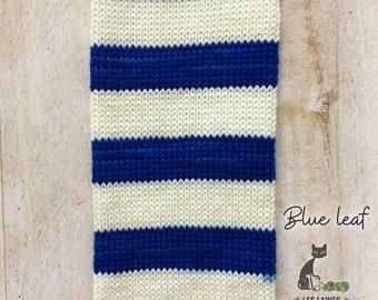 Bis-sock yarn Blue Leaf self-striping hand-dyed yarn
