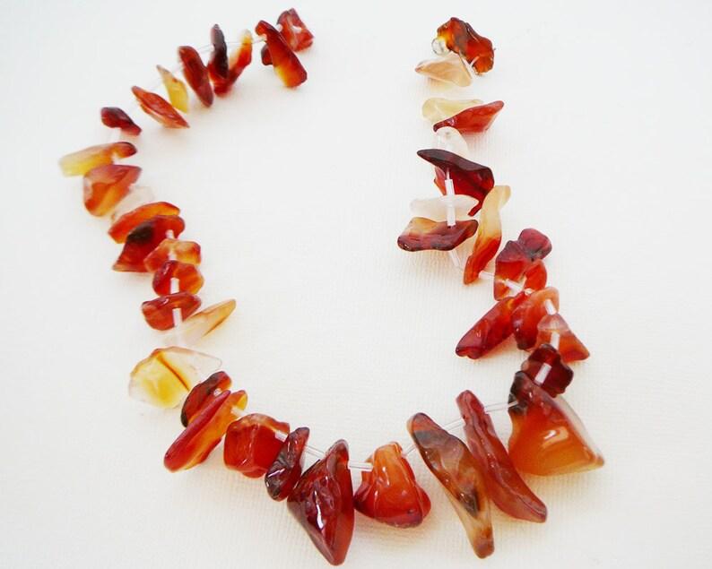 Carnelian chip bead 3 piece jewellery set