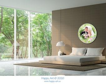 """Flower Vignette """"French Garden"""" for Your Wedding Photo on the Art Disk D 35"""" - 89 cm."""