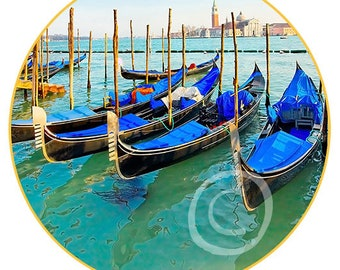 """Venice #8 print on canvas in the form of the Art Disk D 35"""" - 89cm"""