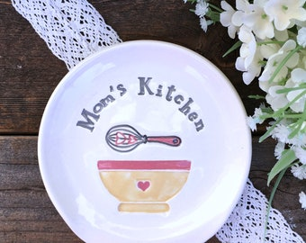 Mom's Kitchen Spoon Rest -  Ceramic Pottery Spoon Rest | Chef Gift | Spoon Holder | Ceramic Spoon Rest | Hostess Gift | Culinary Gifts