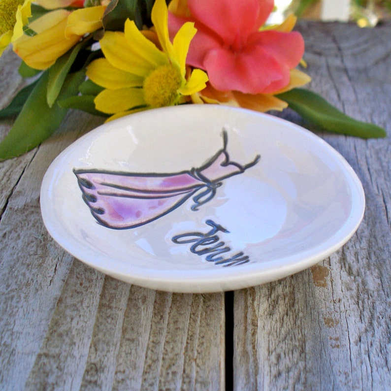 Personalized Wedding Party Gifts Ring Bowl Jewelry Dish Maid of Honor Flower Girl Bridesmaids Gifts Ring Dish