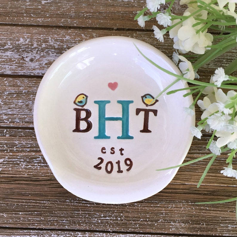 Personalized Kitchen Spoon Rest  Monogrammed Wedding Gift  image 0