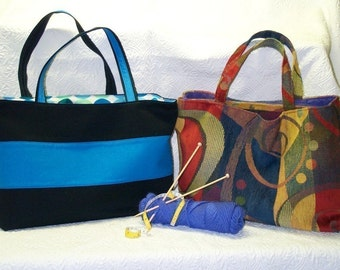 Big Tote Bag with pockets - PDF Sewing Pattern Instructions