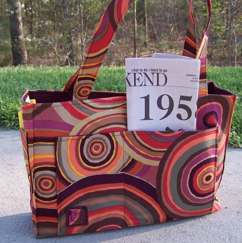 Sewing Pattern pdf  Roomy Reversible OR Zippered tote in 2 image 0
