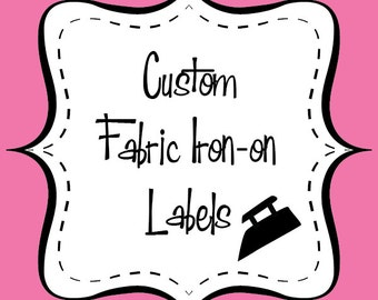 """Custom Printed Fabric Iron-On Labels PLEASE READ  """"Item Description"""" for important product details."""
