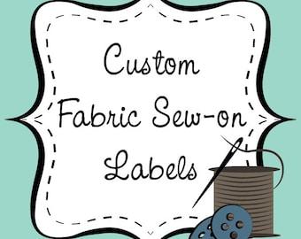 Custom Fabric Sew-on Labels