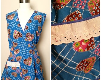 1960s to 1970s Vintage Smock Full Coverage Apron Cooking Crafts Art
