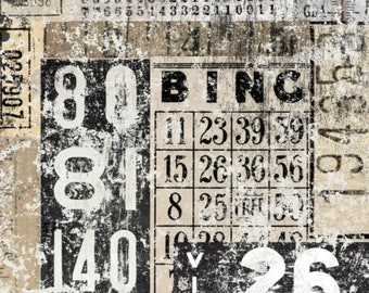 """Roycycled Treasures Grunge Numbers Collage 18 Lb. Decoupage Paper 20""""x30"""" for Furniture & More Ships Worldwide"""