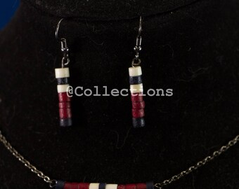 Red white and blue vintage beads