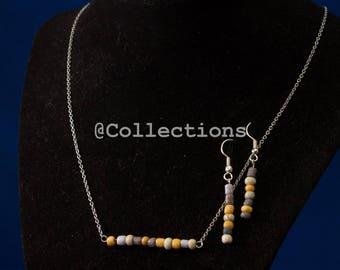 Grey beaded chain