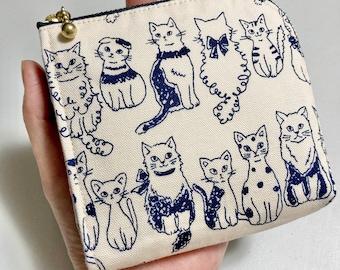 L Shaped Zipper Coin Purse — Cat Cat Cat