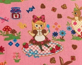 Alice in Wonderland by COSMO Textile fabric - Pink