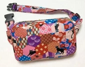 Fanny Pack / Body Bag / Waist Pouch / Hip Bag --- Tuxedo Cats