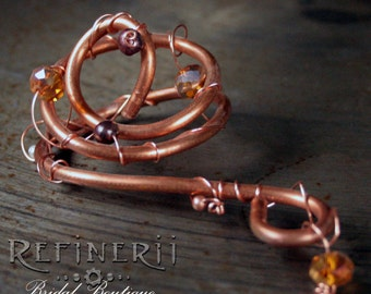 Copper Boutonniere: Steampunk Influence for the Groom