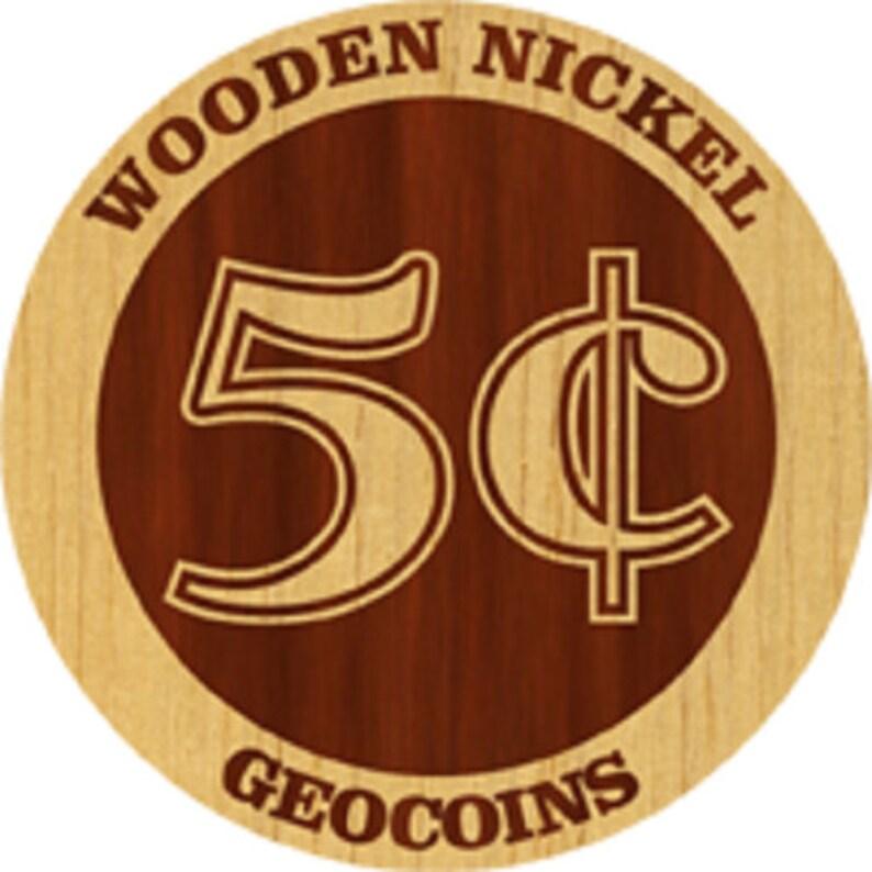 Custom Laser Engraved Wooden Nickel Swag 50 Pack