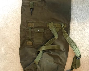 army duffle bag . 80s army duffle bag . vintage US Army duffle bag db099e40acd93