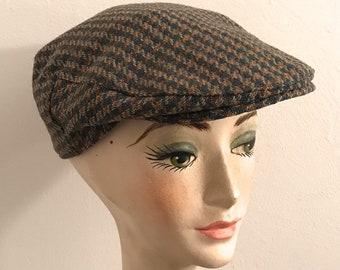 tweed flatcap . wool cap . woven wool cap . Wynnster . ascot cap . cuffley  cap . wynnster cap e1fc918bf387