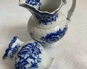 2 vases . colonial Pottery . irving . F. Winkle . lot of 2 . semi porcelain . made in England . ornate pitcher