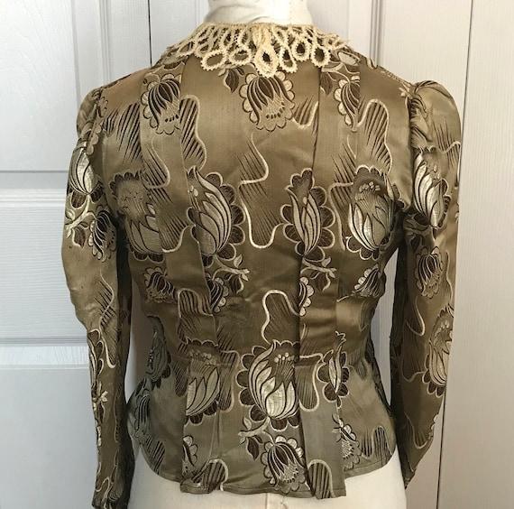 antique peplum blouse .  garment study . edwardia… - image 2