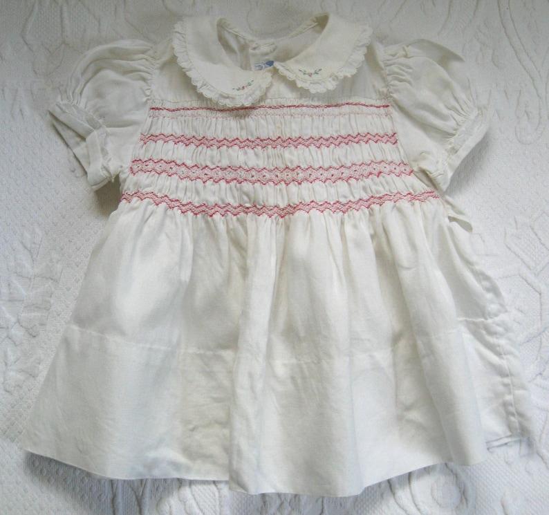 7d323d5a0c6 Smocked baby dress . 50s baby dress . art frocks . hand