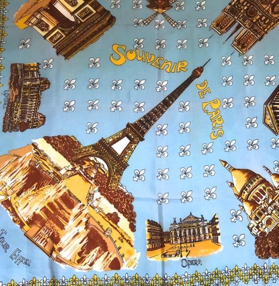 Paris souvenir scarf . souvenir scarf . eiffel to… - image 3