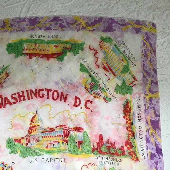 souvenir silk scarf .  DC souvenir scarf .  silk … - image 6