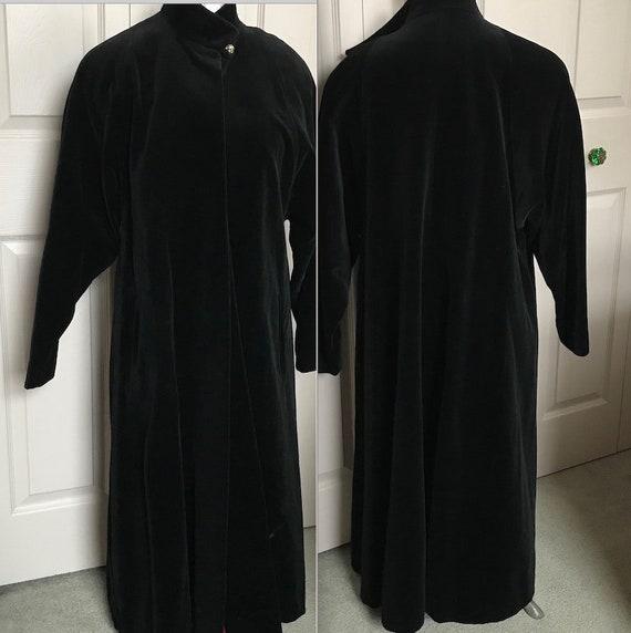 Evening coat . Black Velvet coat . black velvet ev
