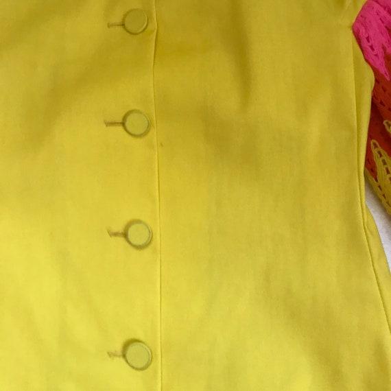 60s MOD dress . 60s mini dress . ruffles sleeves - image 4