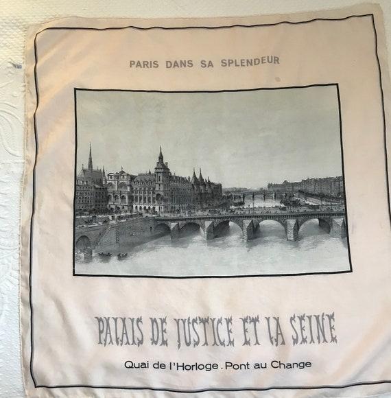 Paris souvenir scarf . souvenir scarf . silk souve