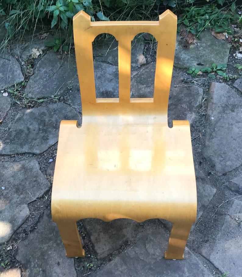 wood child chair midcentury modern chair French child chair child chair bend wood chair