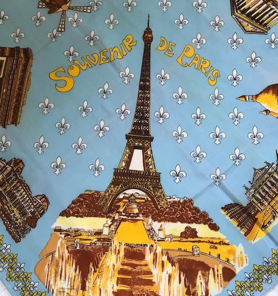 Paris souvenir scarf . souvenir scarf . eiffel to… - image 5