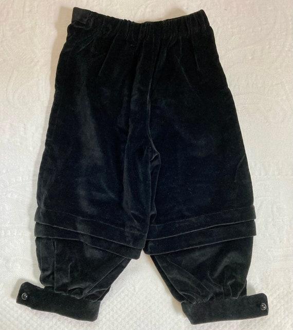 black velvet pants . costume pants . wedding pants