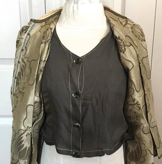 antique peplum blouse .  garment study . edwardia… - image 3
