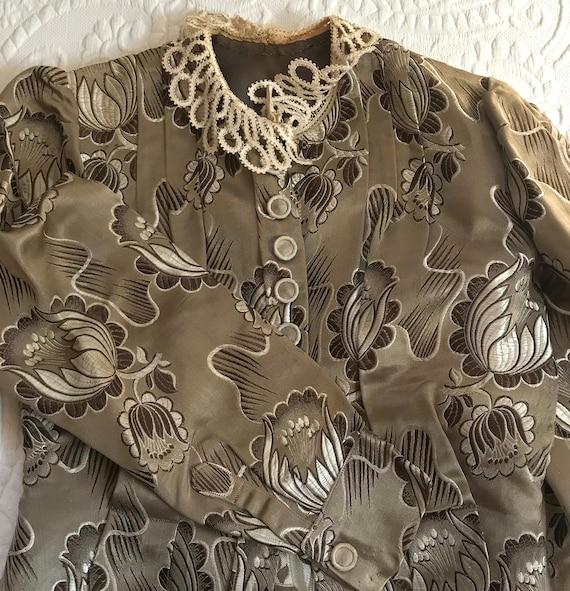 antique peplum blouse .  garment study . edwardia… - image 9
