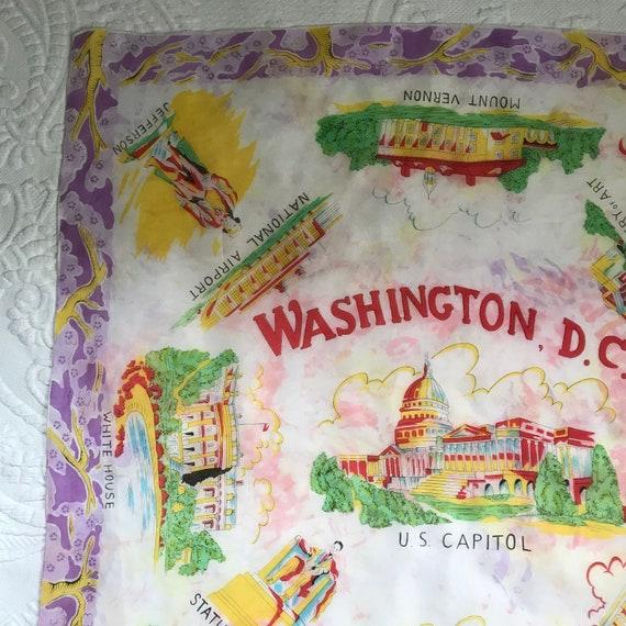 souvenir silk scarf .  DC souvenir scarf .  silk … - image 5