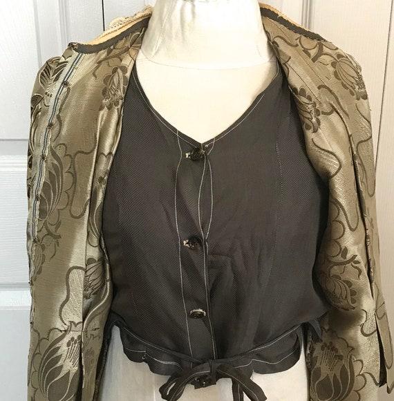 antique peplum blouse .  garment study . edwardia… - image 4