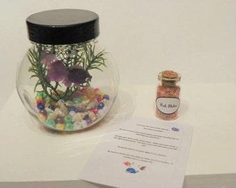 "18"" doll Pet set -  Fish aquarium, food, care sheet"