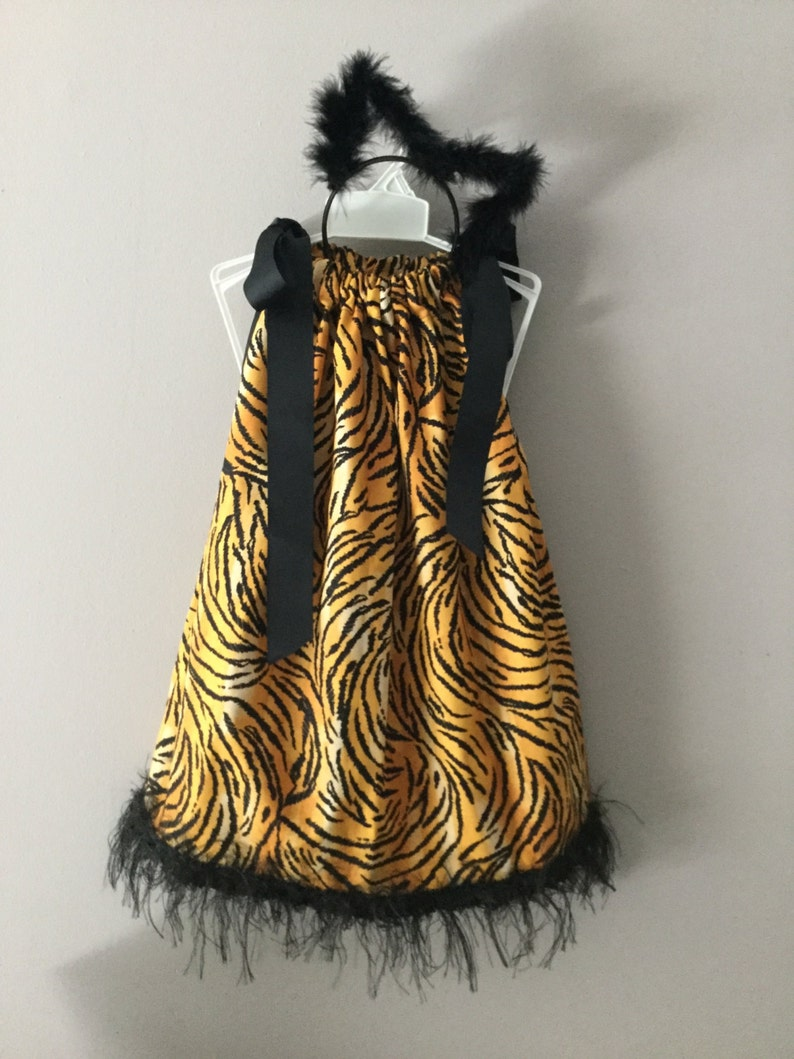 WASHABLE...Tiger Dress with Ears