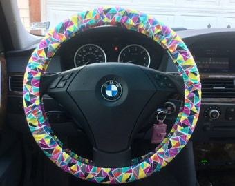 Organic Geometeric Steering Wheel Cover