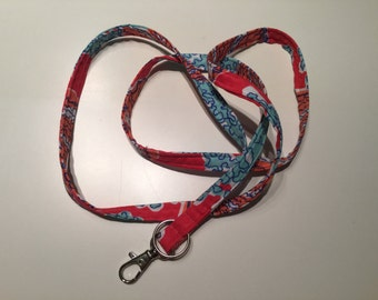 WASHABLE...Lanyard with your choice of Designer Inspired Fabric