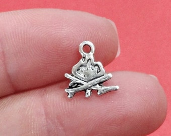 campfire camping fire charm Alloy charm Campfire charm very high quality.Perfect for jewery making and other DIY projects