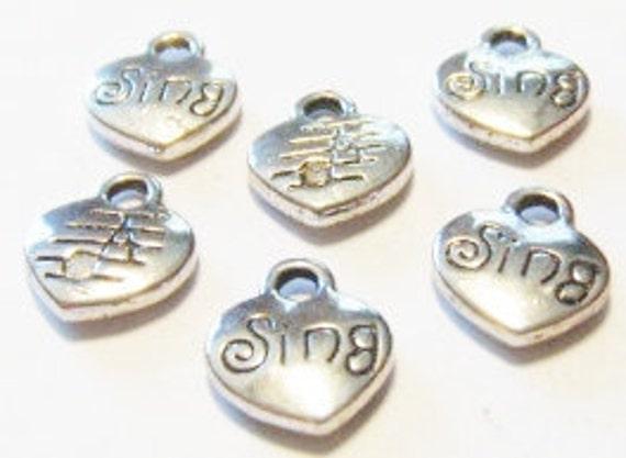 50 pcs of Gunmetal plated puffed hearts 9x11mm