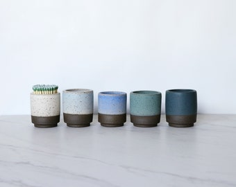 READY TO SHIP : Ceramic match/toothpick holder, available in a variety of glaze colors.