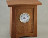 Arts & Crafts, Mission Style Clock - Quarter Sawn Oak