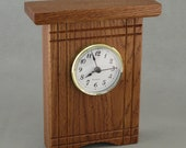 Quarter Sawn Oak Desk Clock with Accents