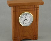 Cherry Desk Clock with Accents